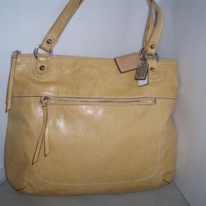Coach Sunflower Yellow Leather Tote/Shopper